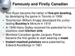 famously and firstly canadian1
