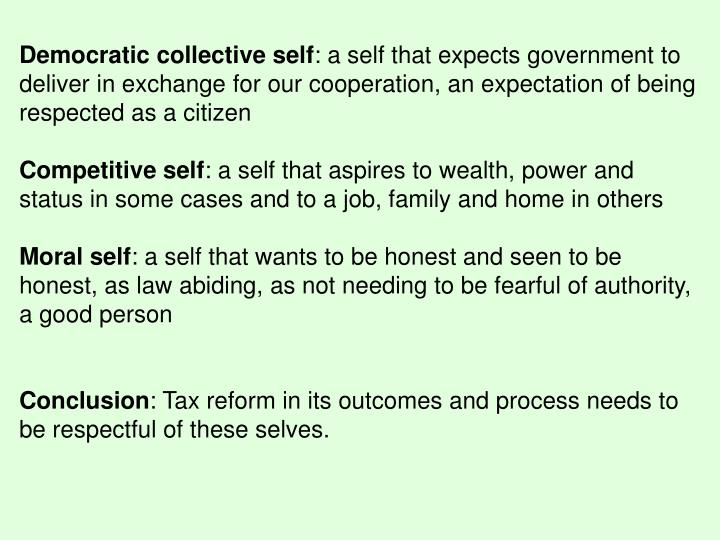 Democratic collective self