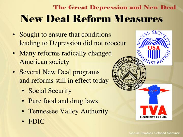 New Deal Reform Measures