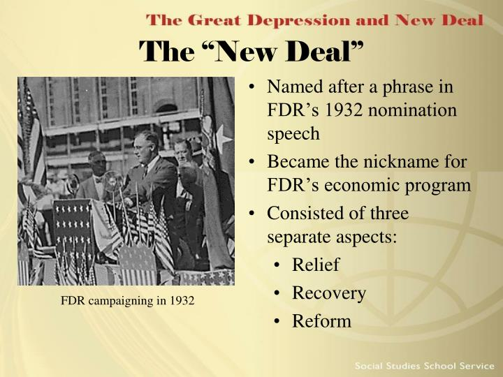 "The ""New Deal"""