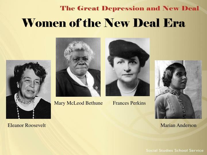 Women of the New Deal Era