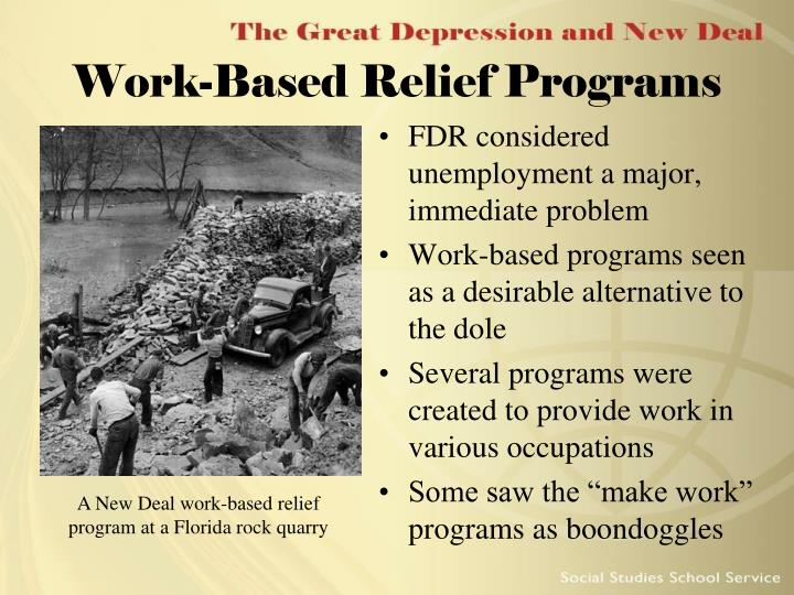 Work-Based Relief Programs
