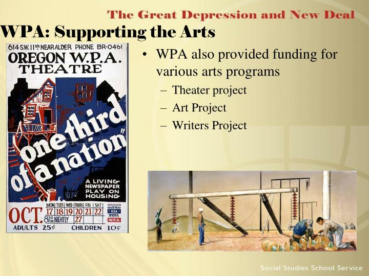 WPA: Supporting the Arts