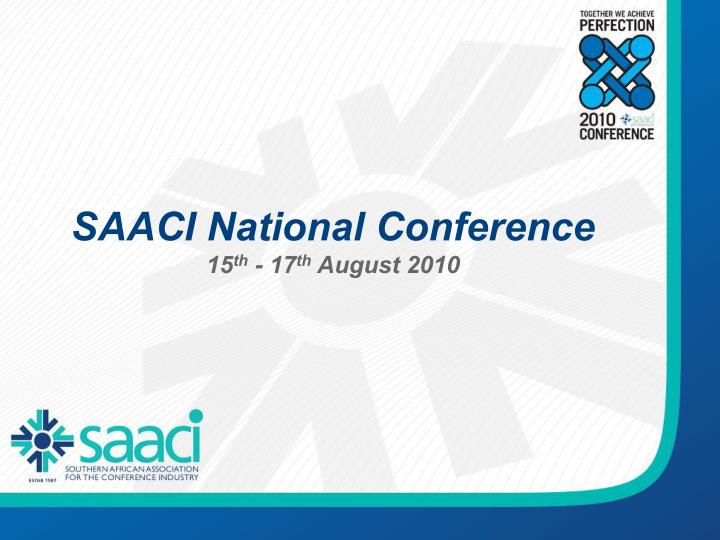 SAACI National Conference
