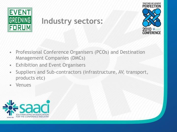 Industry sectors: