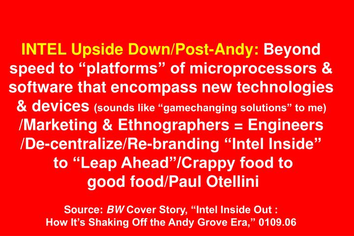 INTEL Upside Down/Post-Andy: