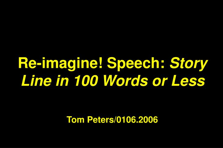 Re-imagine! Speech: