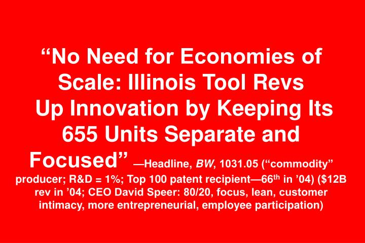 """No Need for Economies of Scale: Illinois Tool Revs"