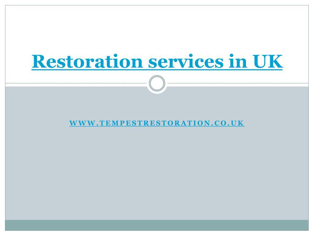 restoration services in uk
