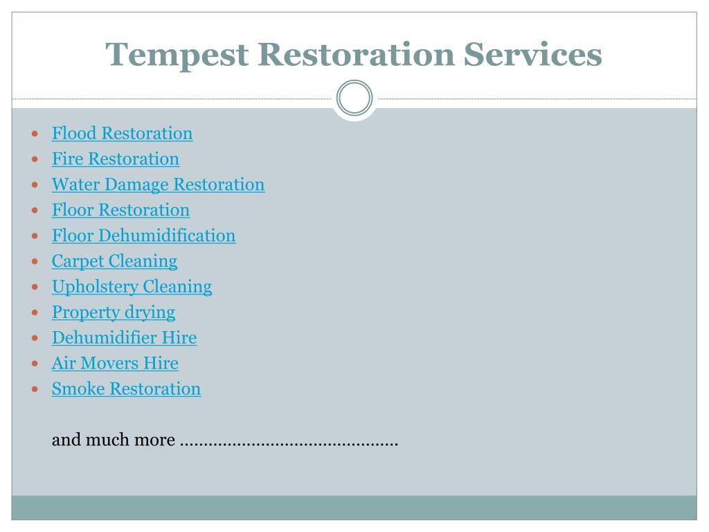 Tempest Restoration Services