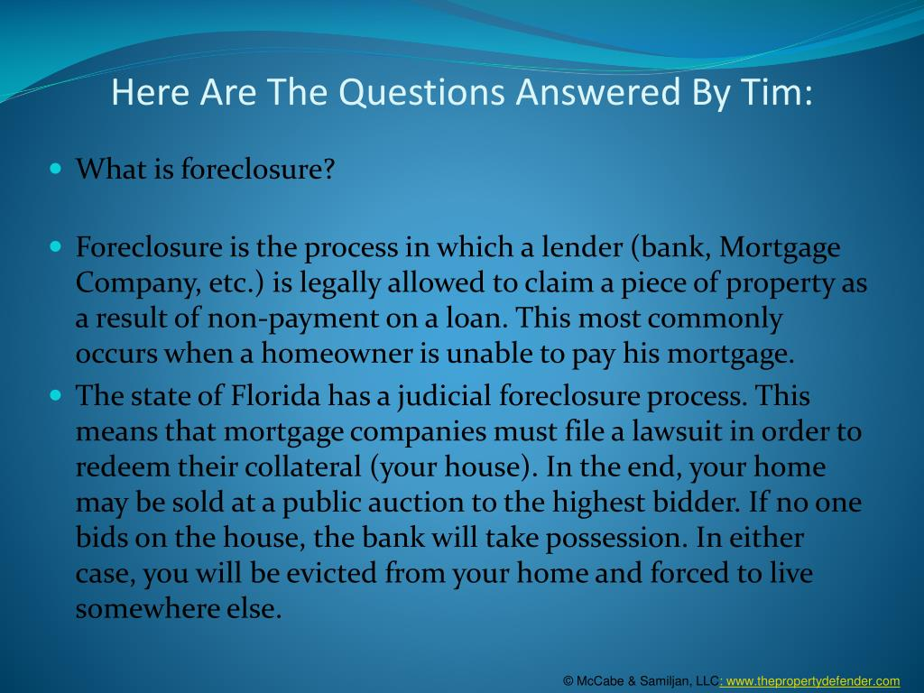 Here Are The Questions Answered By Tim: