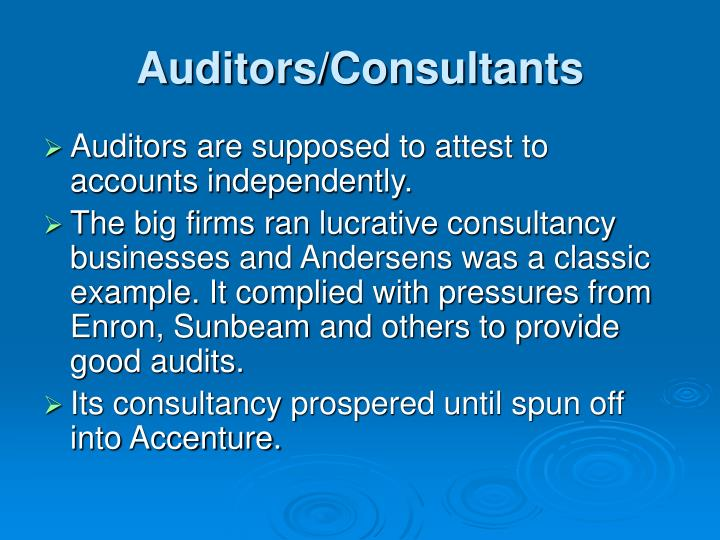 Auditors/Consultants