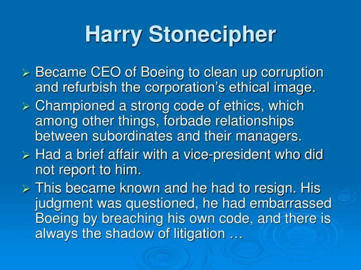 Harry Stonecipher