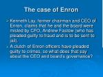 the case of enron