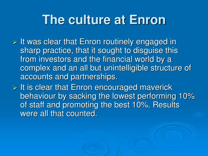 The culture at Enron