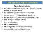 clotting factor acquired inhibitors