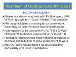 treatment of clotting factor inhibitors