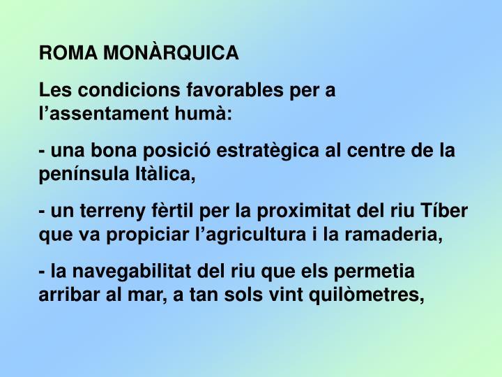 ROMA MONÀRQUICA