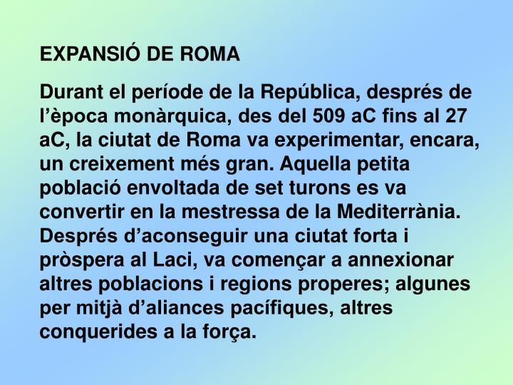 EXPANSIÓ DE ROMA