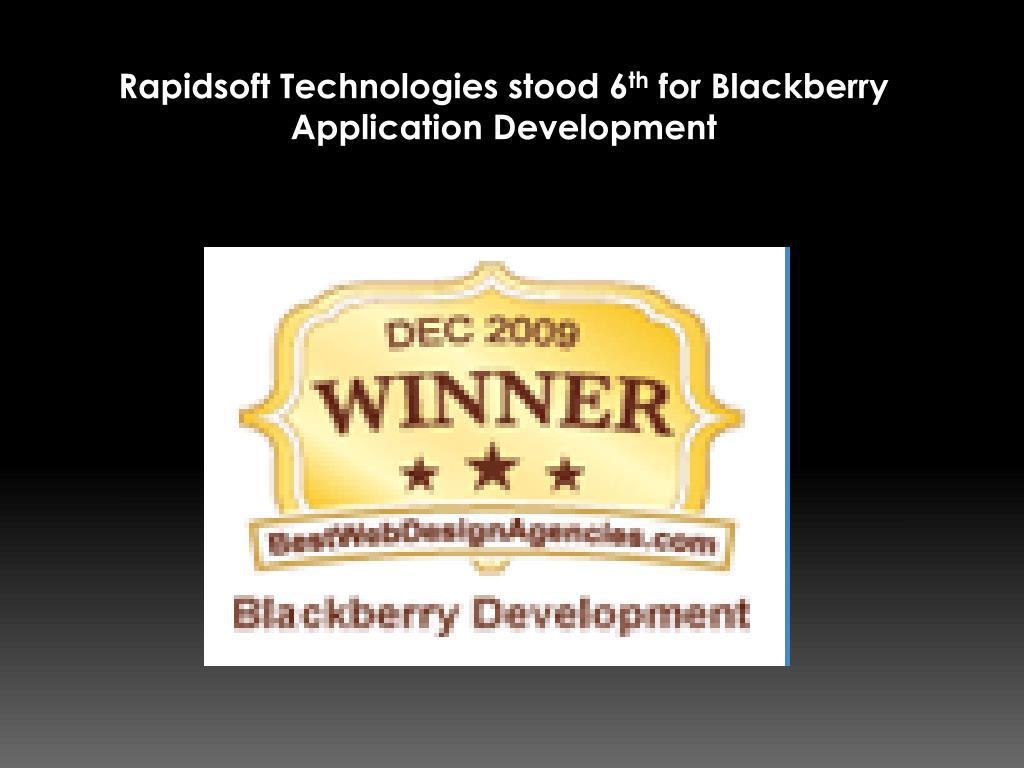 Rapidsoft Technologies stood 6