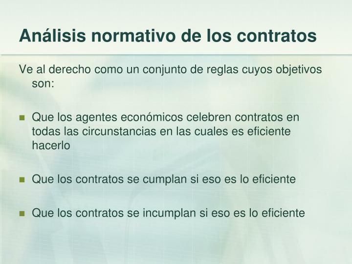 Análisis normativo de los contratos