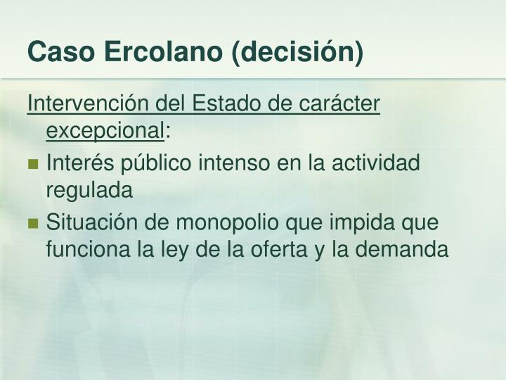 Caso Ercolano (decisión)