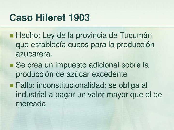 Caso Hileret 1903