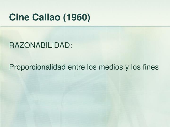 Cine Callao (1960)
