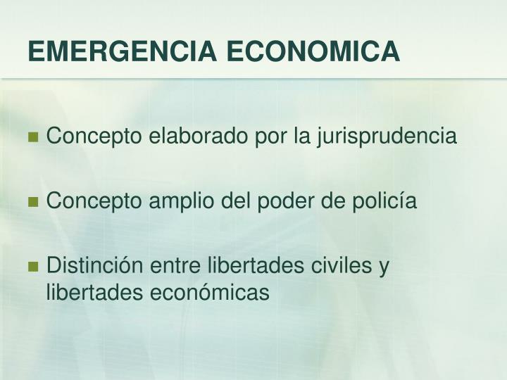 EMERGENCIA ECONOMICA