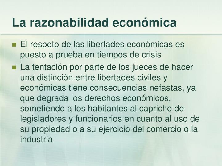 La razonabilidad económica