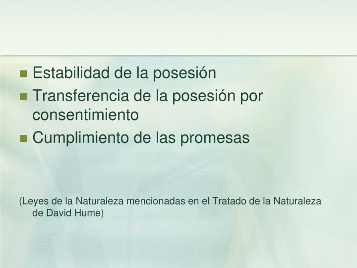 Estabilidad de la posesión