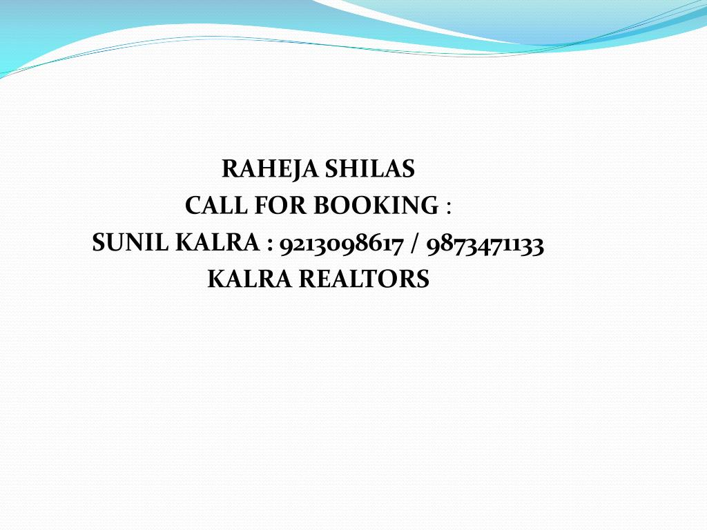 RAHEJA SHILAS