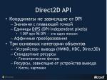 direct2d api