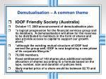 demutualisation a common theme3