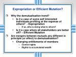 expropriation or efficient mutation