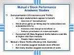 mutual v stock performance academic studies