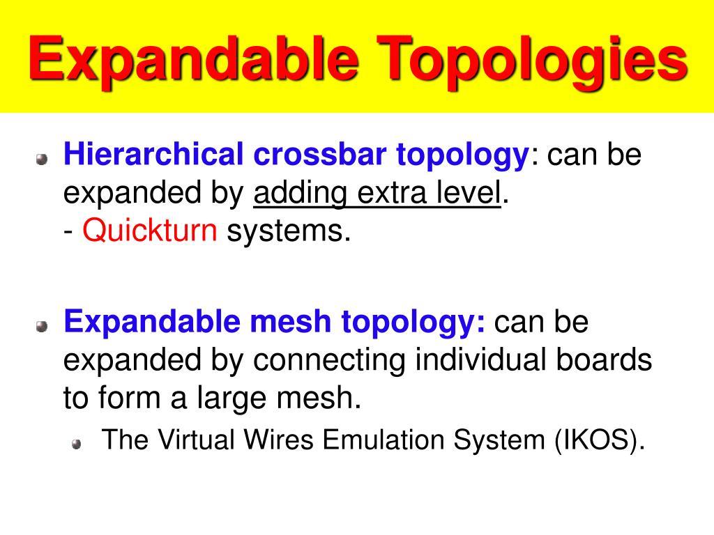 Expandable Topologies