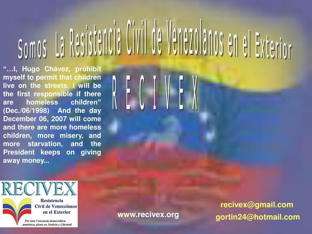 Somos  La Resistencia Civil de Venezolanos en el Exterior