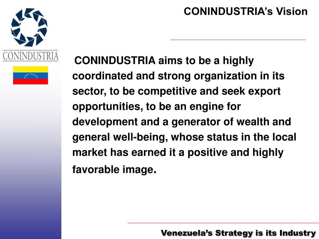 CONINDUSTRIA's Vision
