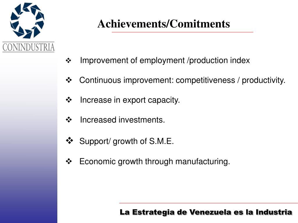 Achievements/Comitments