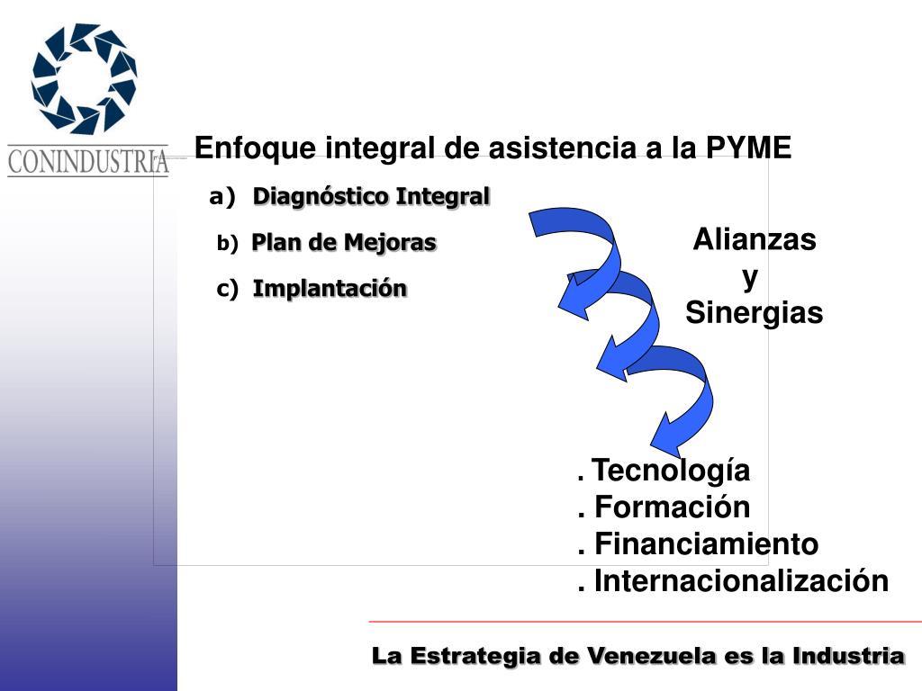 Enfoque integral de asistencia a la PYME