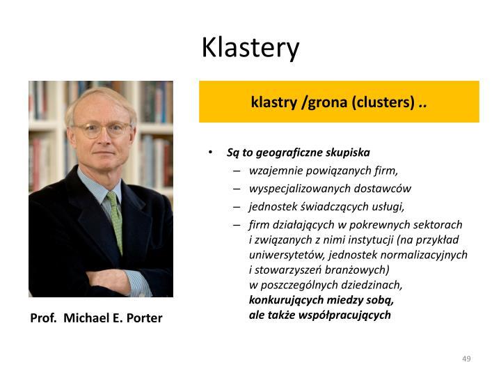 klastry /grona (clusters)