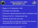 country situation 1999 barbados 1
