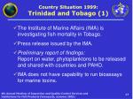 country situation 1999 trinidad and tobago 1