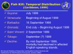 fish kill temporal distribution caribbean 1999