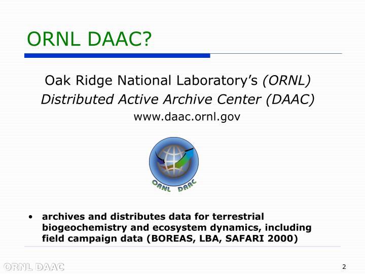 ORNL DAAC?
