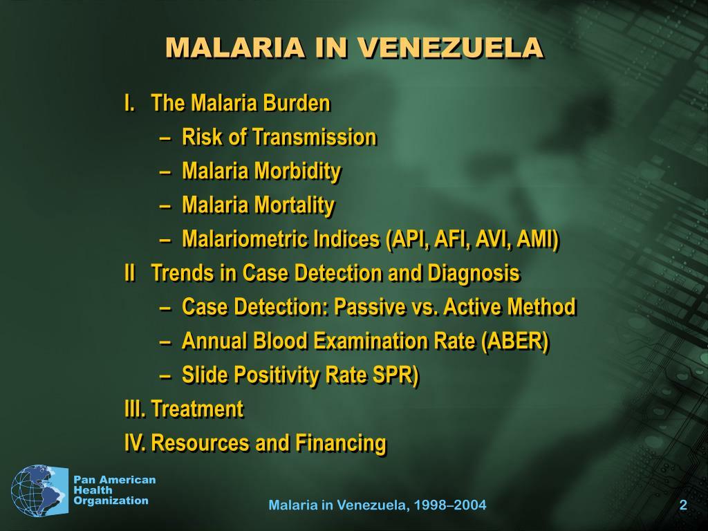 MALARIA IN VENEZUELA