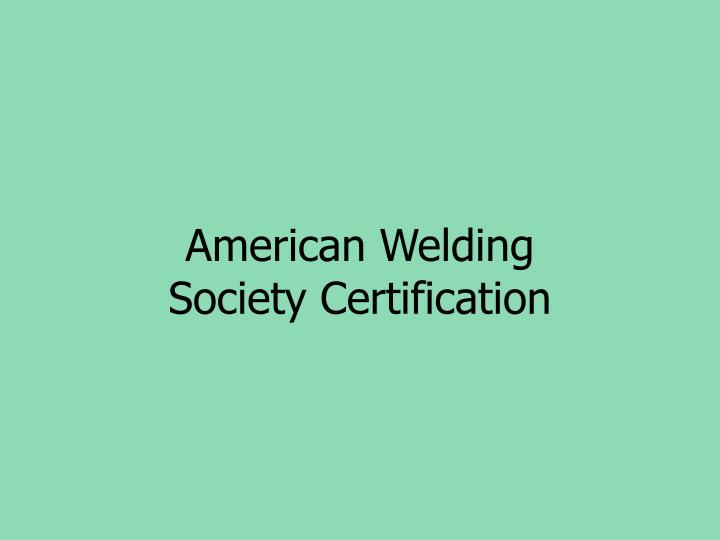 American Welding
