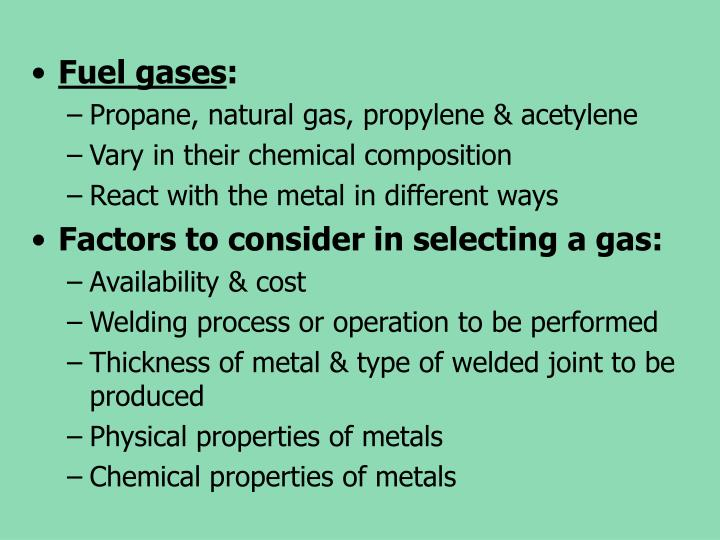 Fuel gases