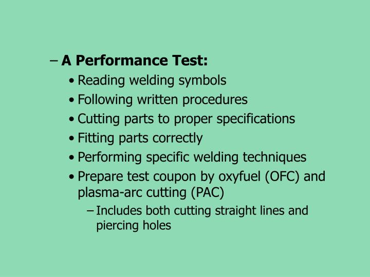 A Performance Test: